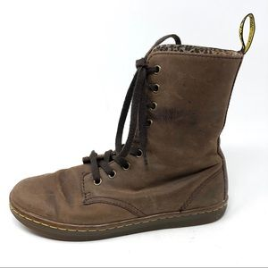 Doc Martens Stratford Brown Nubuck Lace Up Boots 7